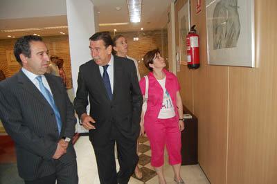 Jerez y Lago durante la inauguración de la muestra en el CEEI. (Foto: J.F.)