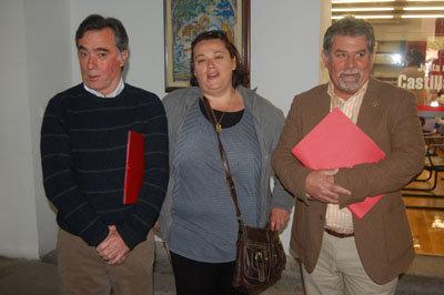 Los tres alcaldes pedáneos de las entidades menores de Talavera. (Foto: J.F.)