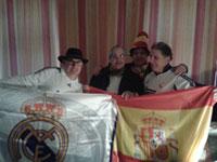 Un grupo de talaveranos disfrutó en Gelsenkirchen de la victoria del Real Madrid