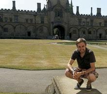 TALAVERANOS POR EL MUNDO: Antonio Sevilla, 23 años (Oxford, Reino Unido)