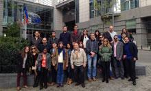 Alumnos de la UNED de Talavera visitan la sede del Parlamento Europeo