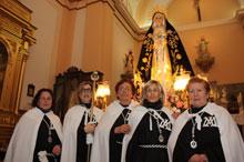 La Procesión de la Virgen de los Dolores abre este viernes la Semana Santa de Carmena
