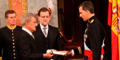 Felipe VI es proclamado nuevo rey enel Congreso de los Diputados