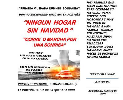 Quedada 'runner' solidaria en La Portiña