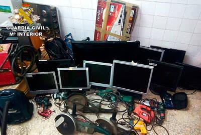 Esclarecidos 126 robos cometidos en polígonos industriales y explotaciones agrícolas de las provincias de Toledo, Albacete y Ciudad Real