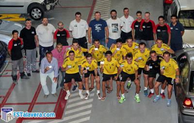 El Soliss FS Talavera visitó las instalaciones de Talleres 'Pedro Madroño'