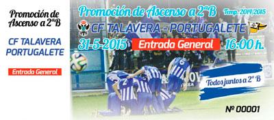 El Talavera establece los precios de las entradas para el partido ante el Portugalete que puede valer un ascenso a la Segunda División B