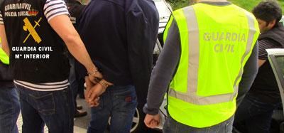 La Guardia Civil desarticula un grupo criminal especializado en el robo de joyas mediante el m�todo del �abrazo�