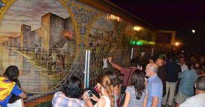 El gran mural cerámico en homenaje a los pescadores del Tajo será inaugurado el próximo jueves 2 de julio
