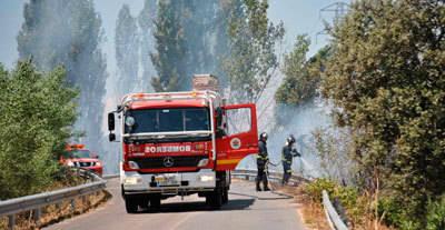 Un incendio en la zona de Espinosillo crea problemas a vecinos del lugar para acceder a sus parcelas