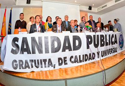 PSOE, IU, Podemos, Ciudadanos y UPyD firman un Pacto por una sanidad