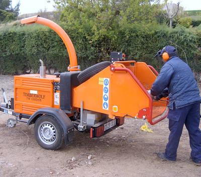 Maquinaria para la poda en municipios toledanos