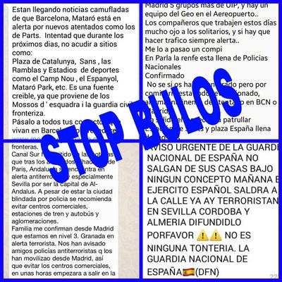 Whatsapp sobre yihadismo en Talavera, un bulo