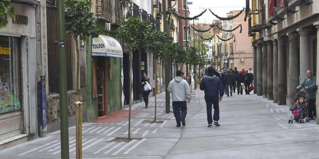 Oposición de los comerciantes a la peatonalización de la Corredera
