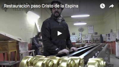 Alberto Paniagua nos explica el trabajo de restauración del paso del Cristo de la Espina
