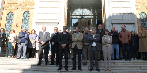 La Diputación de Toledo se suma al paro de cinco minutos por los atentados