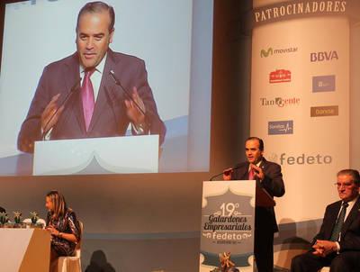 Gregorio, en los premios de FEDETO