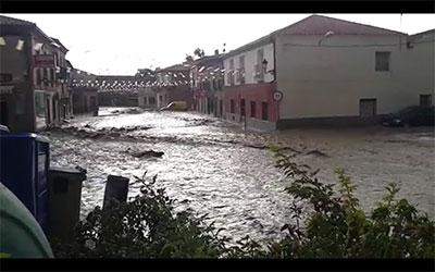 Lluvias Torrenciales, vientos huracanados e inundaciones en la comarca (vídeo)