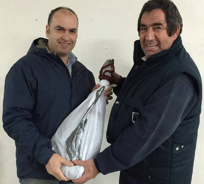 Juan Félix Brasero gana el jamón del CF Talavera