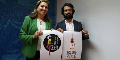 El Ayuntamiento presenta el logotipo 'Mesa para dos' que lucirá Toledo como Capital Española de la Gastronomía 2016