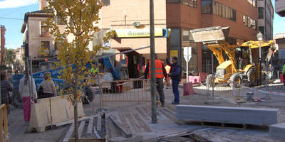 Las obras de la Plaza del Reloj y de la calle Corredera del Cristo avanzan a buen ritmo