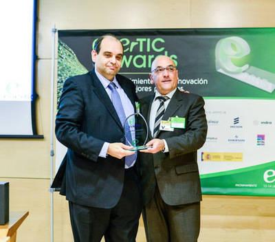 José Mª Ramón de Fata recoge el enerTIC Award