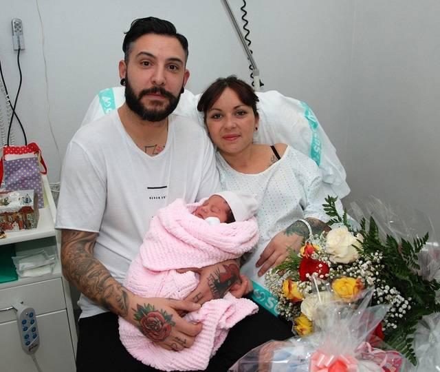 Nicole, primera nacida en 2016 en Talavera