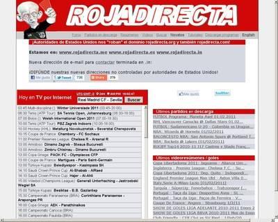 Acuerdan el cierre cautelar de la web Rojadirecta