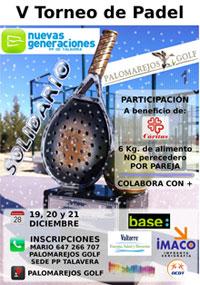 NNGG Talavera presenta su V Torneo Solidario de Padel