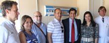 Echániz visita las obras de mejora en la zona de hospitalización de oncología pediátrica del Hospital de Toledo