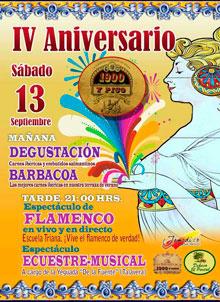 Degustaciones y espectáculos en el IV Aniversario de Taberna 1900 y Pico
