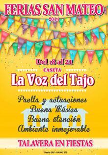 La Voz del Tajo, vuelve la mejor caseta de las Ferias de San Mateo 2014