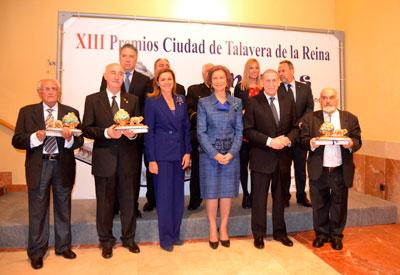 La Reina Doña Sofía presidió los XIII Premios 'Ciudad de Talavera' en el Teatro Palenque