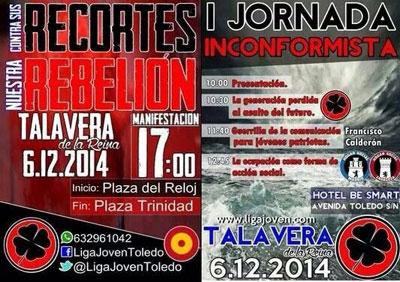 Polémica ante la celebración de la I 'Jornada Inconformista' de la Liga Joven en Talavera