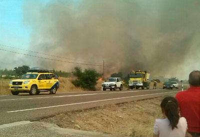 Controlado el incendio forestal originado ayer en el término municipal de Velada