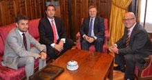 García-Tizón recibe al presidente provincial de la Agrupación de Empresarios de la Construcción