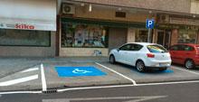 Nuevas plazas de aparcamiento para personas con discapacidad en Santa Bárbara