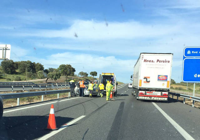Accidente en la A-5 dirección Madrid