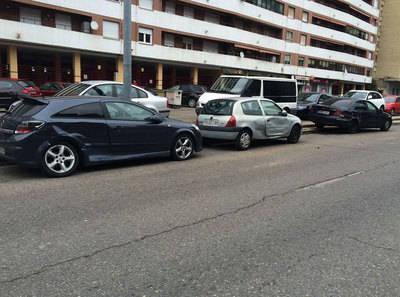 Accidente en una avenida de Talavera de la Reina