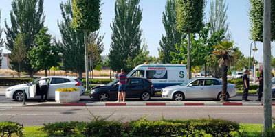 Accidente en la Avenida Madrid