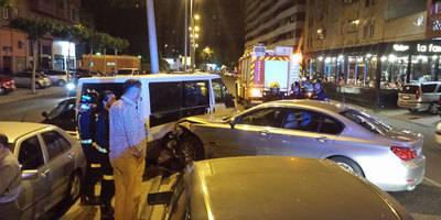 Espectacular accidente en la Avenida Constitución de Talavera