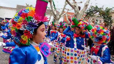 Calera vive un Carnaval multitudinario en todo el pueblo
