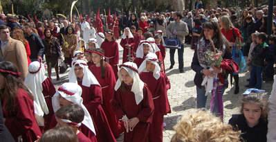 La Borriquita es la estrella del Domingo de Ramos