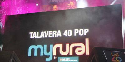 Lleno absoluto en el inicio de la Gira 40POP myrural en Talavera