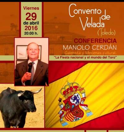 Manolo Cerdán da una conferencia en Velada