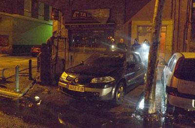 Cuatro contenedores fueron incendiados durante la madrugada del pasado sábado en Talavera