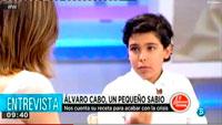 Álvaro Cabo debuta en la televisión nacional