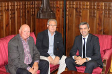 Álvaro Gutiérrez recibe al alcalde de Santa Ana de Pusa
