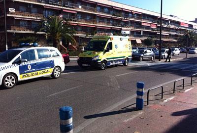 Herida leve una mujer al ser atropellada en un paso de peatones junto al Campo de Fútbol 'El Prado'