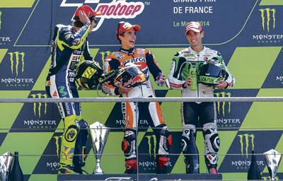 Álvaro Bautista se sube al podio en Le Mans en el Gran Premio de Francia